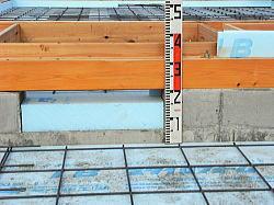 蓄熱床暖房のための耐圧基礎の上に